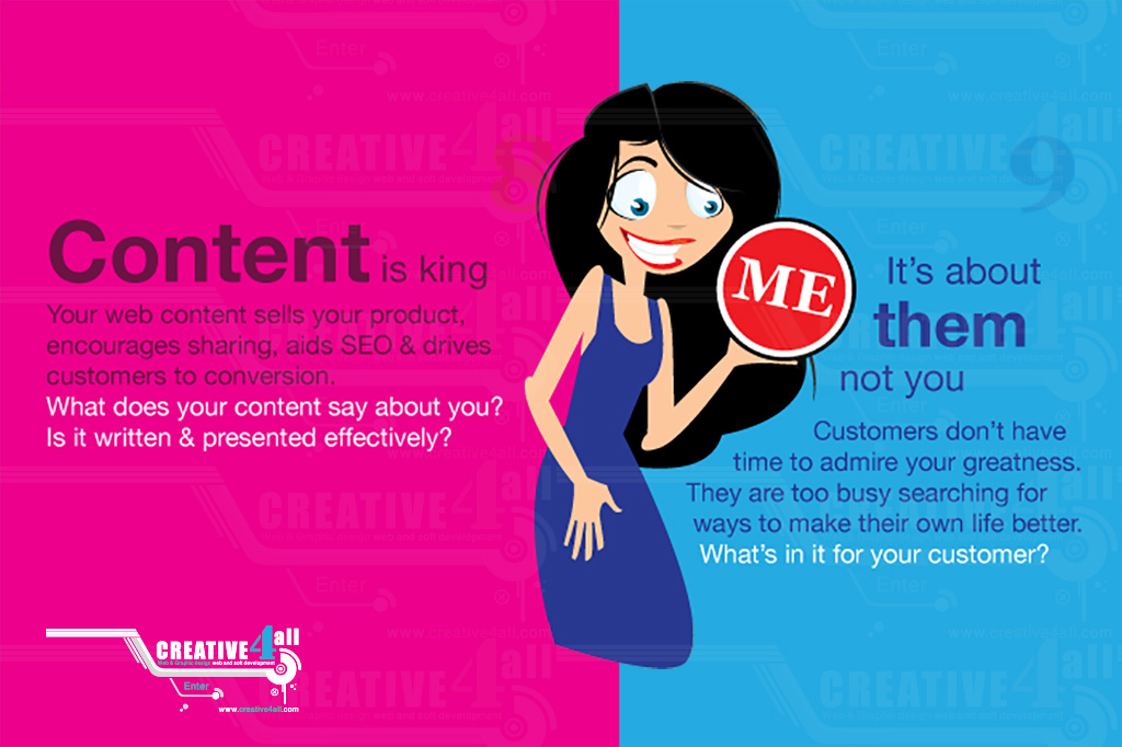 Content is king Your web content sells your product