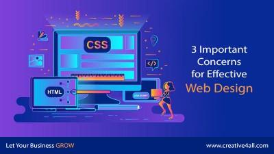 3 Important Concerns for Effective Web Design