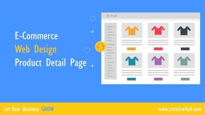 E-Commerce Web Design - Product Detail Page